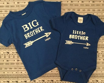 Big brother little brother shirts, matching brother shirts