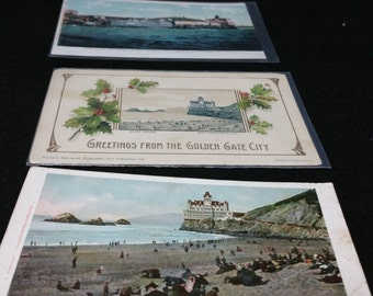 """Cliff House Postcards - Three San Francisco """"Cliff House"""" Postcards - Antique. One is mailed in 1908."""