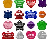 Pet ID Tags - Up to 8 Lines of Custom Engraving