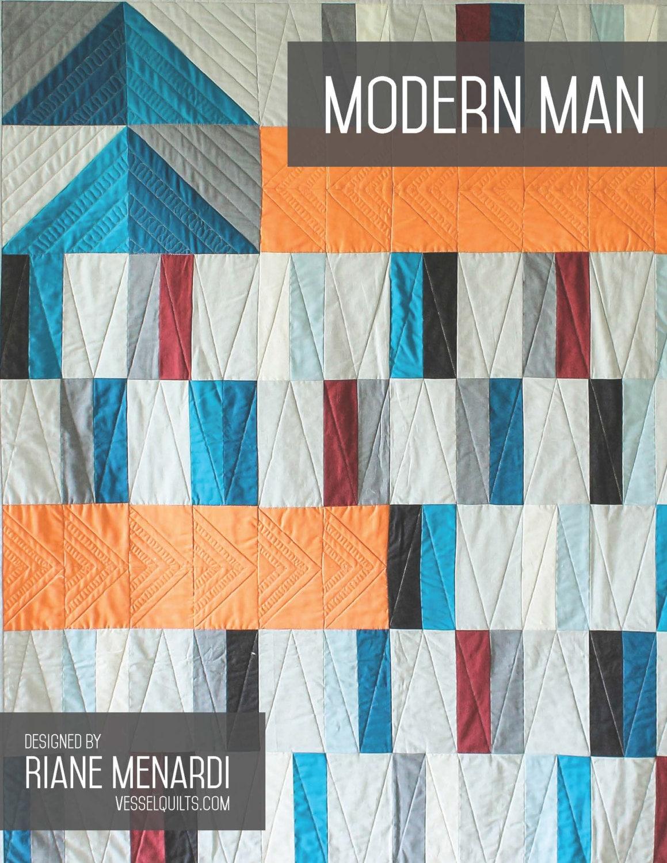 Modern Digital Quilting Patterns : Digital Pattern: Modern Man Quilt