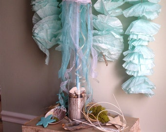 Mermaid Party Decorations Centerpiece~Under the Sea Centerpiece~Jellyfish Table Centerpiece~Shell Beach Centerpiece~ Wedding Centerpiece