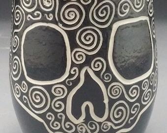Skull and Swirls Mug