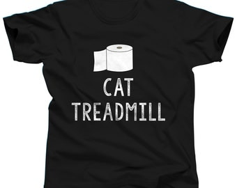 Cat Shirt Cat Treadmill Cat Tshirt Funny Cat Shirt Kitten Shirt Cat Lover Cat T-Shirt Cat T Shirt Cat Clothing Gift For Cat Lover Cat Tee