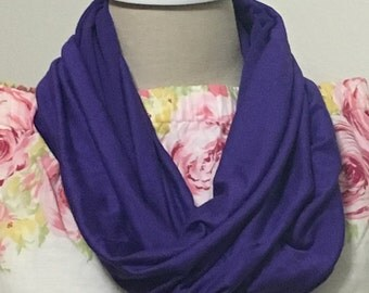 Light weight purple infinity scarf