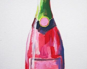 Custom Champagne Bottle - Rosé