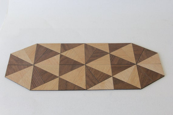 Triangle Design Table Mat Trivet Laser Cut Wood With By