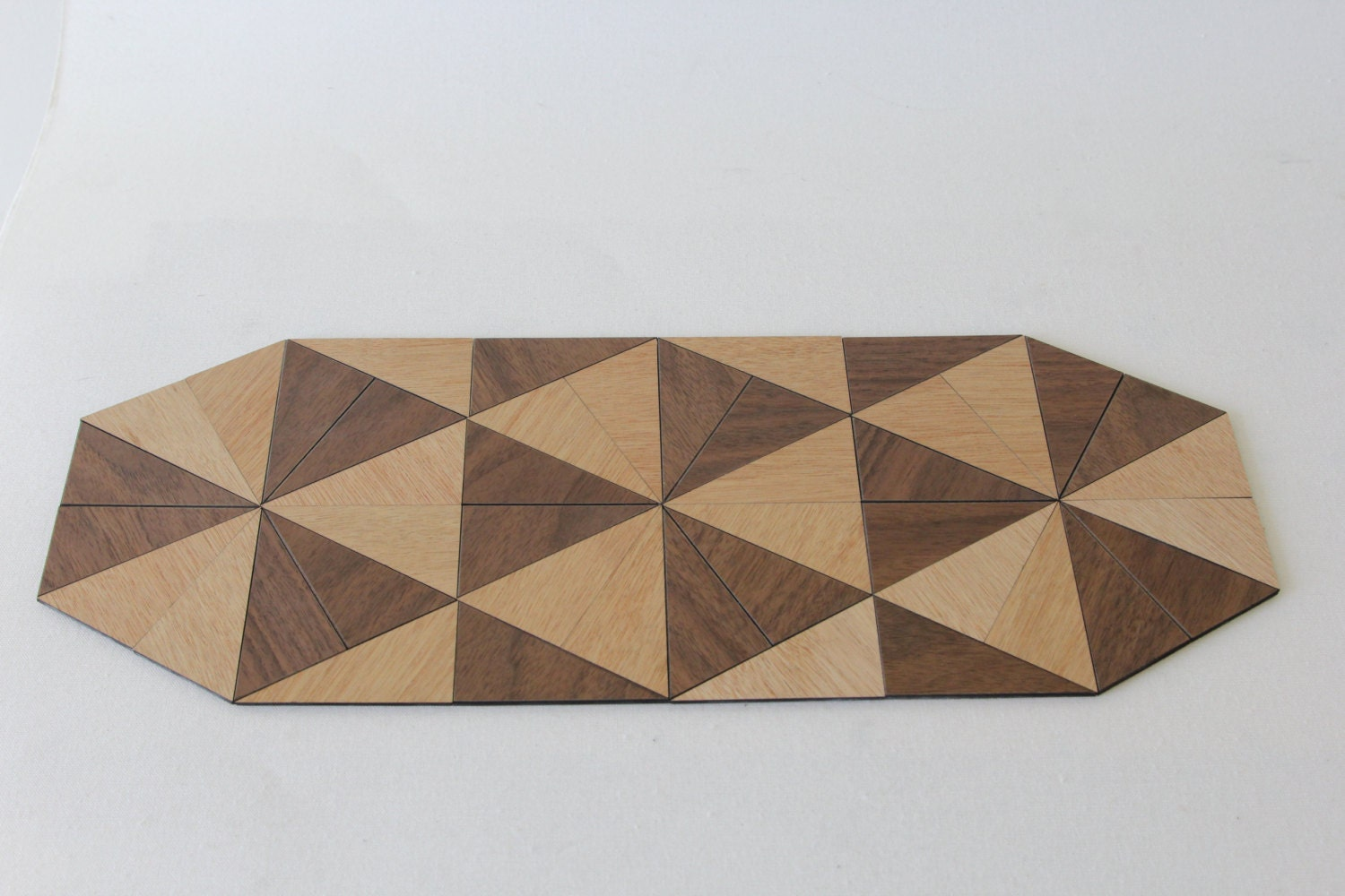 Triangle Design Table Mat Trivet Laser Cut Wood With Hemp