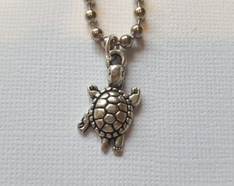 Turtle charm necklace - gift