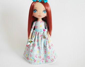 Customization Cloth dolls Ragdolls Handmade Bride Gift for daughter Textile doll Interior doll Birthday Gift for girl Fabric dolls Soft toy