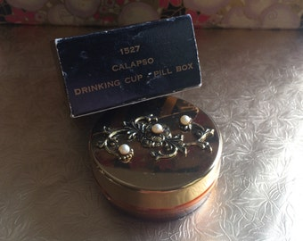 Vintage Calapso Drinking Cup - Pill Box
