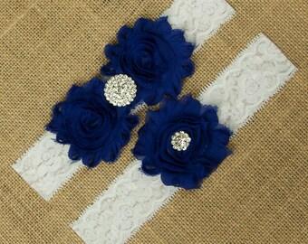 Royal Blue Garter, Garter Belt, Bridal Garter Belt, Royal Blue Garter Set, Royal Blue Garter Belt, Blue Garter, Something Blue, SCWS-B04