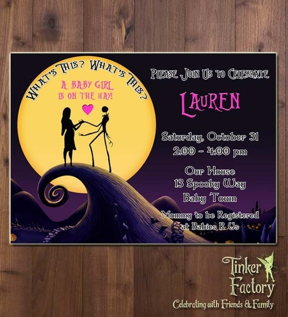 Nightmare Before Christmas Baby Shower Party Invitation