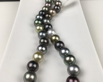 Custom LUXE Round Tahitian South Sea Pearls Simply Exquisite