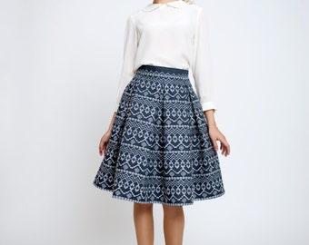Anna Embroidered flared skirt / A-line skirt / Prom skirt
