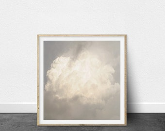 Photography Art Print, Contemporary Printable Art, Nimbus Cloud, Nature Photography, Shades of Grey, Tranquil Art, Modern Interior Decor