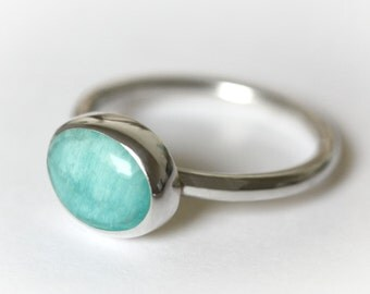 Turquoise Ring, Turquoise and silver Ring, Turquoise Jewellery, Sterling Silver Ring, Amazonite, December birthstone ring, Boho Ring