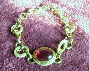 Free Shipping...Monet, Gold Tone Necklace