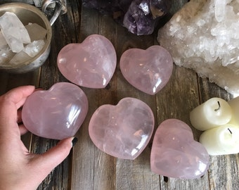 Large Rose Quartz Heart Crystal Heart / Big Rose Quartz Healing Crystals / Big Crystal Heart Pink Crystal Heart / Crystal Decor Wedding Gift