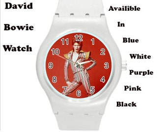 David bowie, 70's, retro, wrist watch, sports, sports watch, pink, retro , 70s music, star wars, fashion