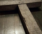 Old Rugged Barnwood Cross with Handmade Square Head Nails