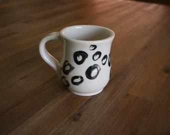 Black and White Handmade Ceramic Mug