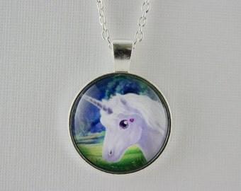 Unicorn pendant, fantasy, unicorn necklace