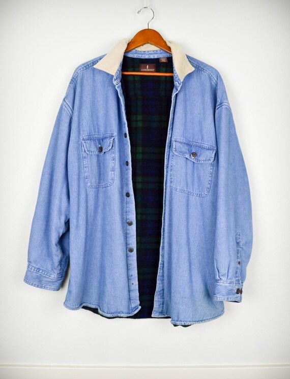 des ann es 90 grunge veste en jean oversize par justiceandfreedom. Black Bedroom Furniture Sets. Home Design Ideas