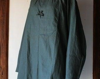 Swiss military work smock shirt/Switzerland/1940s/cotton/dead stock/medical/217