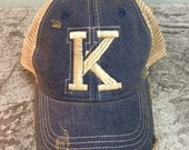 Kentucky K Ball Cap, K Distressed Cap, Kentucky Hat