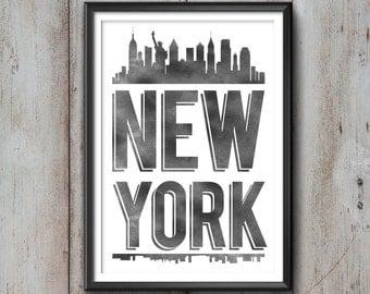 New York City Typography Print, New York Print, New York Poster, New York Gift, New York Art, New York Pride, New York City, New York Decor,
