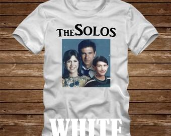 THE SOLOS Family Portrait T-Shirt or Bodysuit-adult & kids sizes- Han Solo Princess Leia Kylo Ren harrison ford adam driver carrie fischer