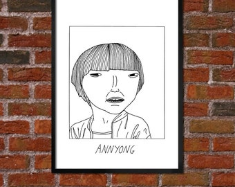 Badly Drawn Annyong - Hello! - Arrested Development - Poster - *** BUY 4, GET A 5th FREE***
