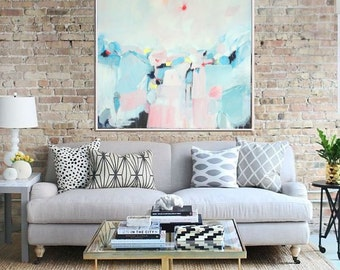 Abstract Painting, Abstract Seascape, Original Artwork, Abstract Canvas Painting, Modern Art, Contemporary Art, Abstract Wall Art