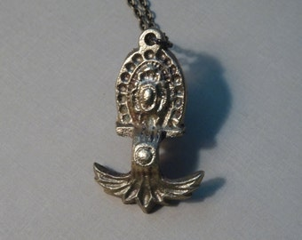 Steampunk Drawer Pull Pendant Necklace