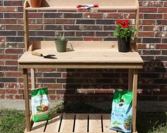Brand New 6 Foot Decorative Cedar Potting Bench - Free Shipping