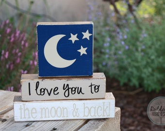 I Love You To The Moon and Back: Stacking Blocks