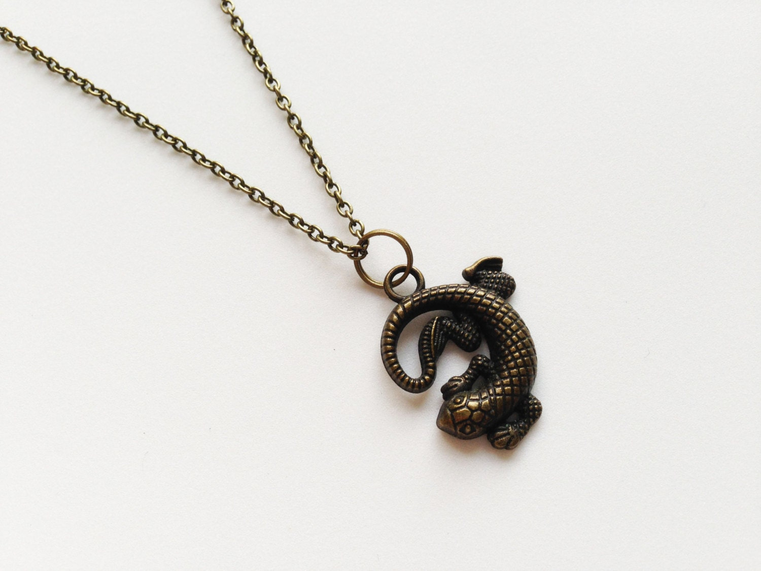 lizard necklace lizard pendant charm chain by zhuaccessories