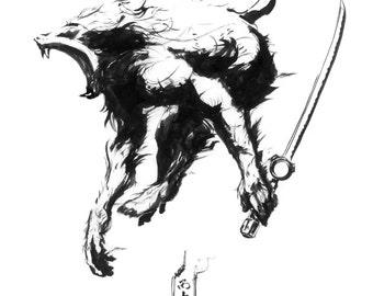 Barista Samurai Baboon