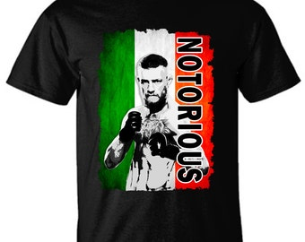 Conor McGregor tshirt, The notorious One, Irish Badass, Boxing, MMA