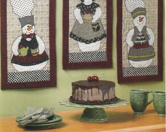 Christmas Decorations Sewing Pattern, Snowpeople Quilt Pattern, Holiday Decorations Pattern, McCall's Crafts M6217, Uncut Sewing Pattern