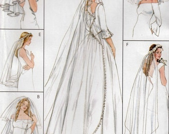 Bridal Veil Sewing Pattern, Bridal Sewing Pattern, Wedding Veil Sewing Pattern, McCall's Crafts 4126, Uncut Sewing Pattern