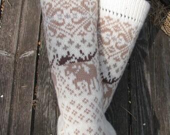 knit socks wool socks knitted socks Scandinavian pattern Norwegian socksgift to man. gift to woman men socks Women socks.