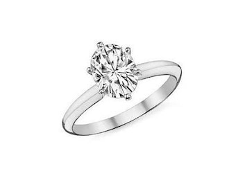Oval Diamond Engagement ring > EGL USA Certified G-Si2 0.72 Carart > Solitaire Ring > Diamond Ring > Wedding Jewelry > Modern Ring