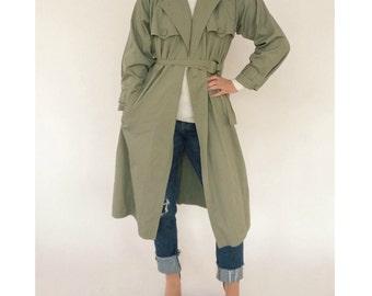 Vintage Yves Saint Laurent Military Trench Coat