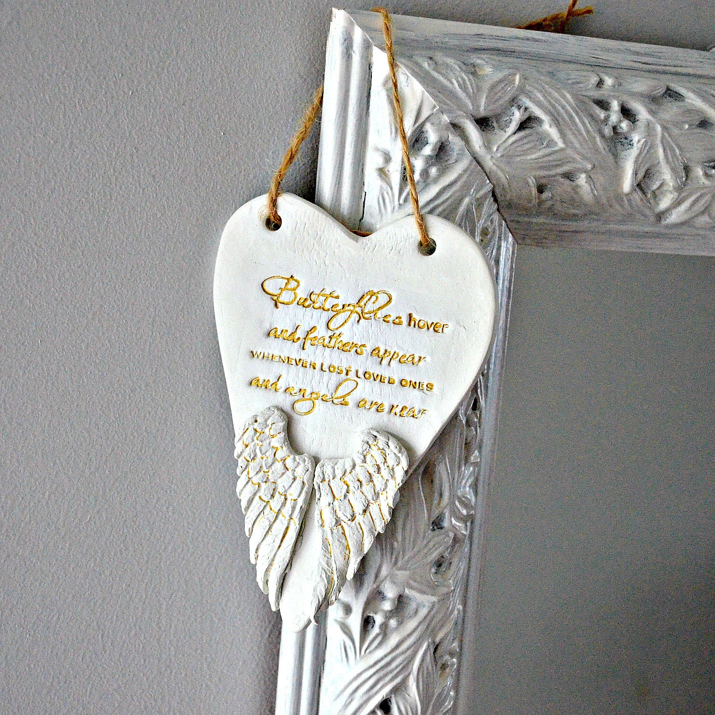 Baby loss ornaments - In Memory Ornament Memorial Gift Angel Wings Remembrance Keepsake Death Of Loved One