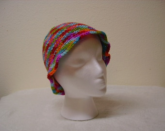 Multi-colored crochet hats