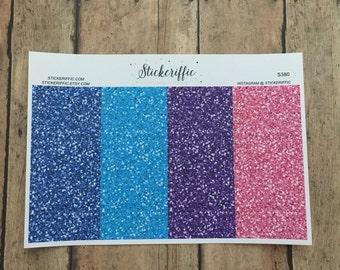 S380  Rainbow Glitter Headers for Erin Condren Life Planner or Happy Planner