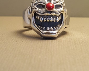 Sterling Silver Clown Ring