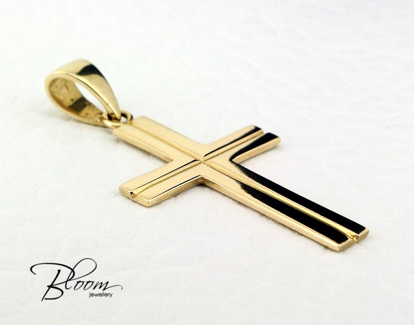 solid gold cross pendant 14k gold cross for gold cross