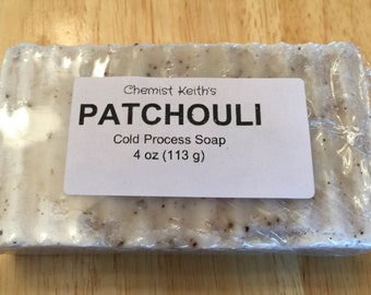 Homemade Patchouli Cold Process Bar Soap, 4 oz